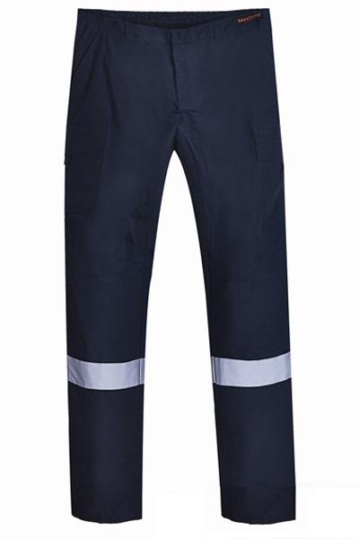 Pantalon Cargo Trabajo Poplin Cinta Reflectante Hombre Pripublicidad